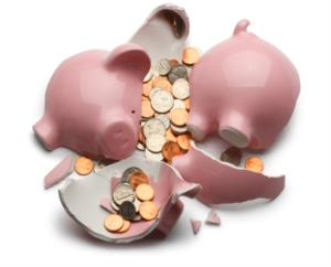 Piggy-bank-smashed
